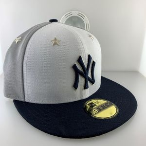 New Era Cap New York Yankees Star Gray Size 7 3/8